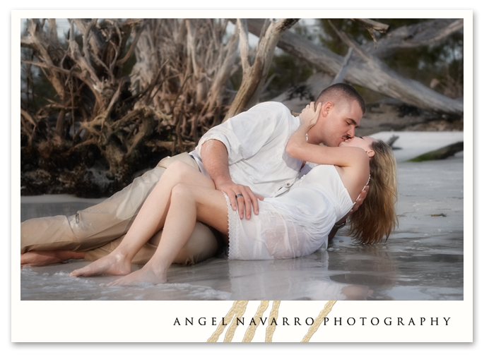 Romantic engagement session and picture.