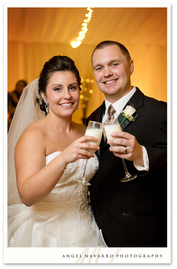 Champagne Gles Angel Navarro Bride Groom Wedding Toast Bradenton