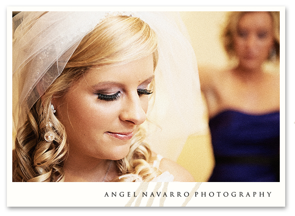 Close-up of Bride in Dressing Room
