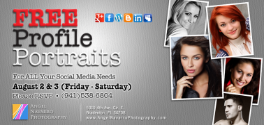Limited Offer - FREE Studio Profile Portraits