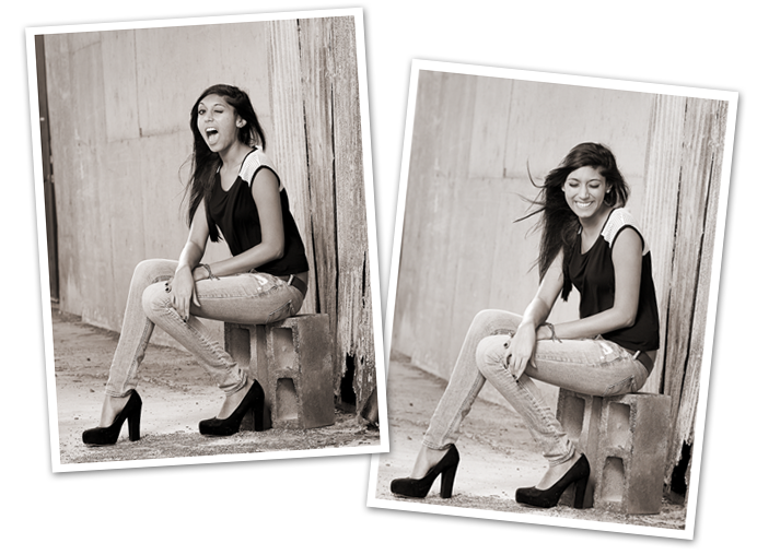 Funny Outtakes from Senior High School Photo Session