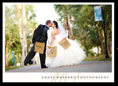 Funny Sign Bride And Groom Sarasota