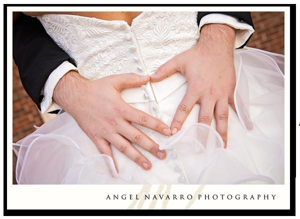 Heart-shaped Hug for the Bride's Bossom