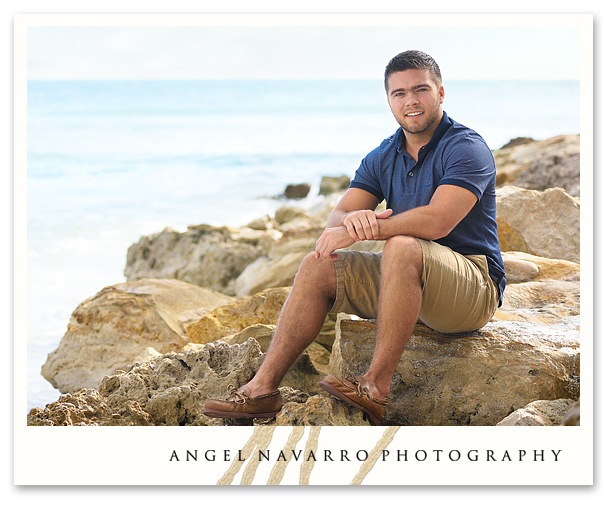 Amazing High School Senior Beach Portrait