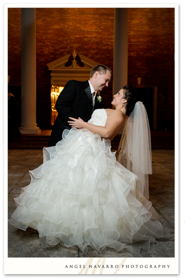 Great picture of bride and groom.