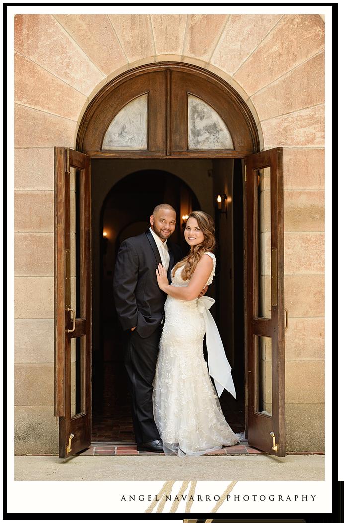 Traditional Wedding Photo Under Doorway