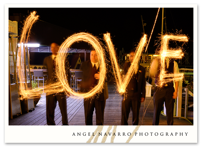Loved Spelled with Sparklers