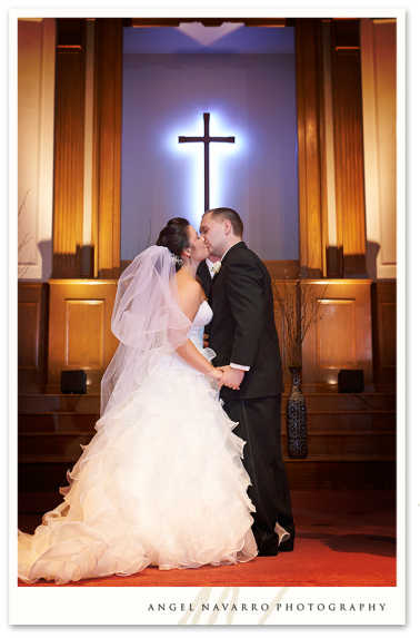 The Altar Kiss of a Bradenton Wedding