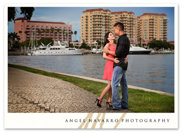 Outdoor Portraits in Tampa of Young Couple