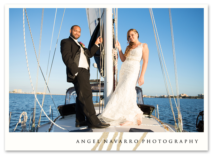 Scenic Wedding Couple on Boat Ride
