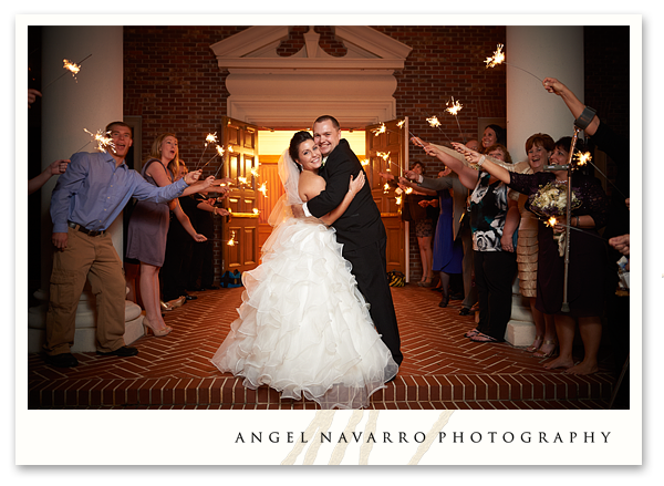 Wedding Farewell with Sparklers