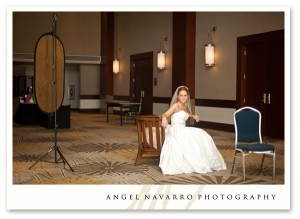 A pull-back of the bridal session