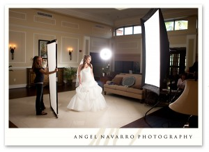 The setup for Andrea's bridal picture.