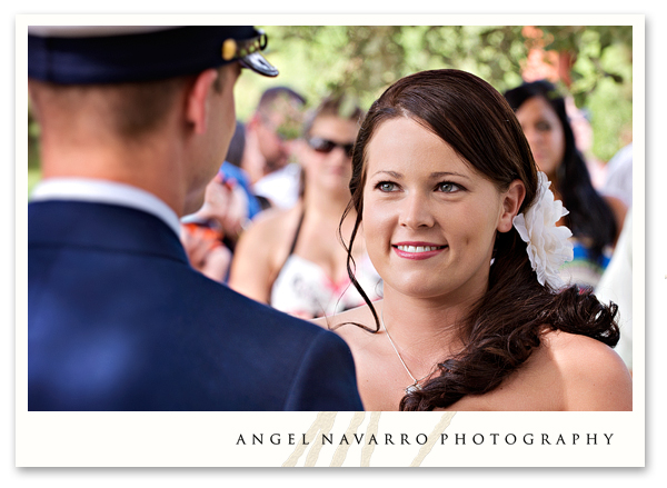 Bride ceremony soldier wedding vows