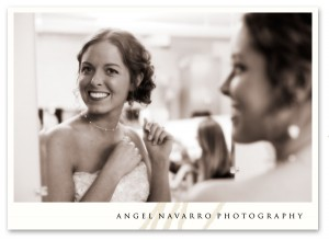 Bride getting ready smiles!
