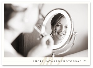 Fun picture of bride getting ready.