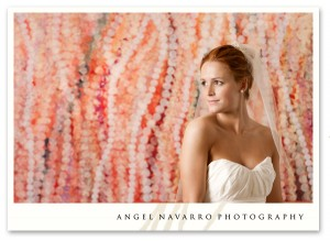 Another colorful background for a bridal picture.