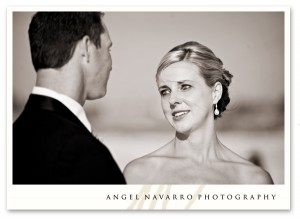 A tender wedding moment.