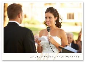 Bride repeats her vows.