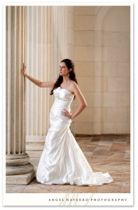 A fashion look for a sensational bridal picture.