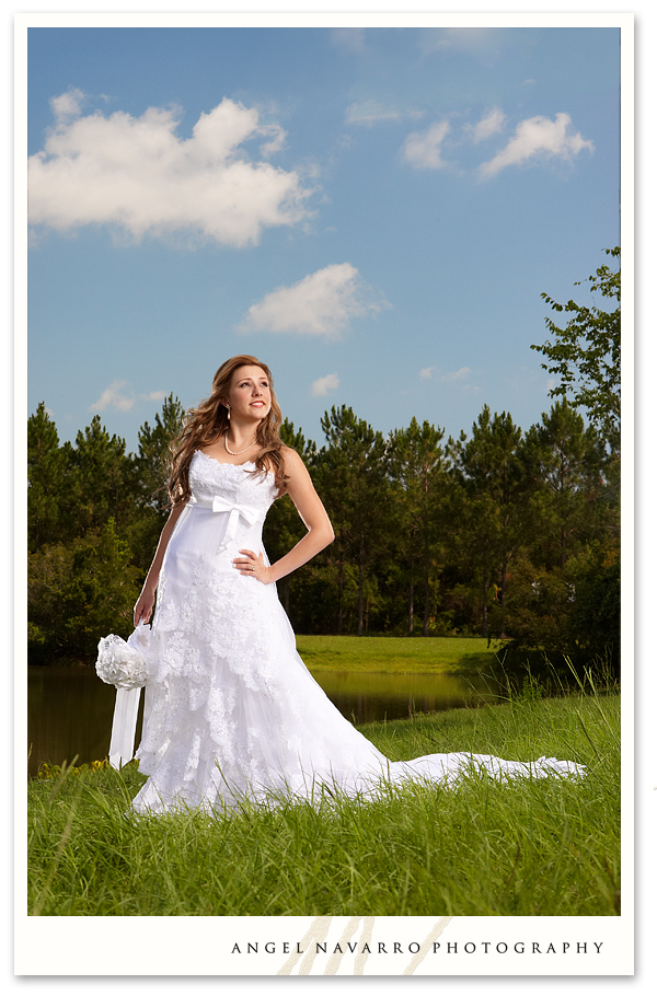 bride photography outdoor country setting