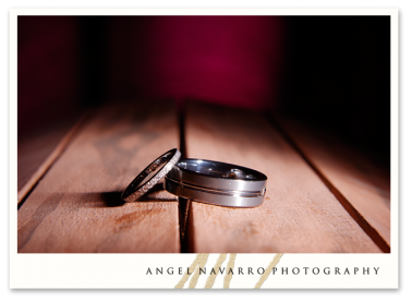 Creative photo of wedding rings.