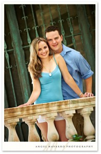 An engagement photo of the soon-to-be-married Justin and Katie