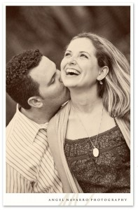 Vintage looking engagement picture.
