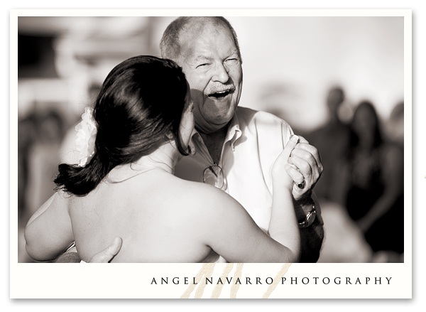Father bride dance laughing