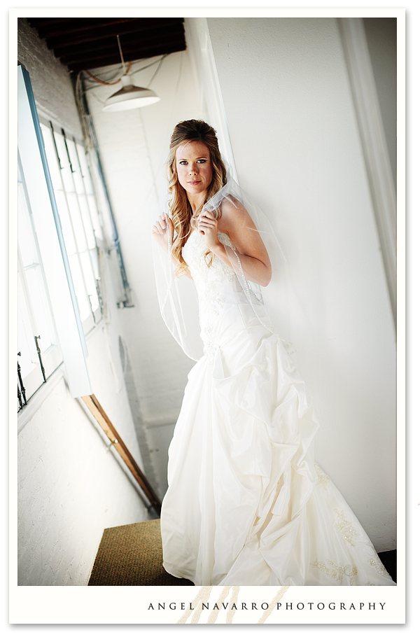 Bride in White Hallway - Fashion Look