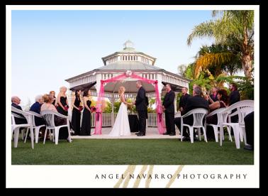 Terrific wedding ceremony at Mixon Farm.