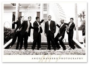 Photograph of groomsmen at the Hyatt in Sarasota.