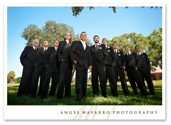 Groomsmen and groom portrait.