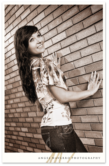 A stylish high school senior picture of a beautiful young lady.