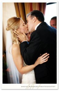 The Kiss at the Altar - Weddings in Sarasota, Florida