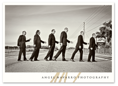 Classical groomsmen picture.