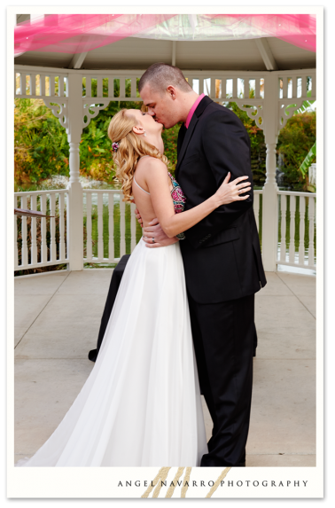 Kiss after being pronounced husband and wife.
