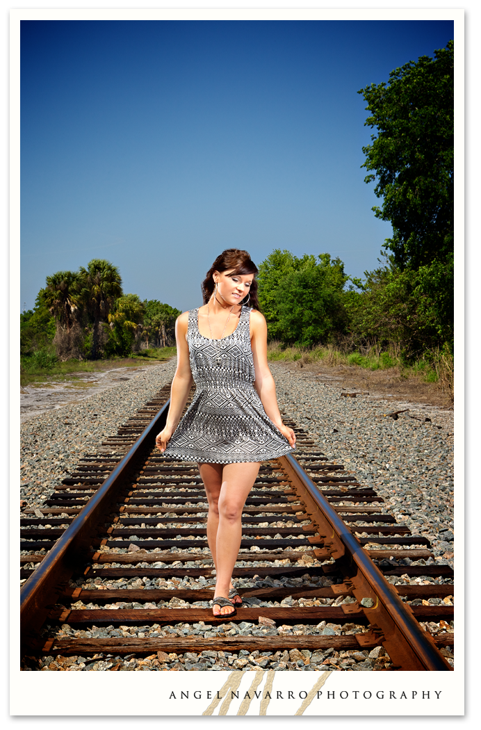 A happening outdoor senior photograph.