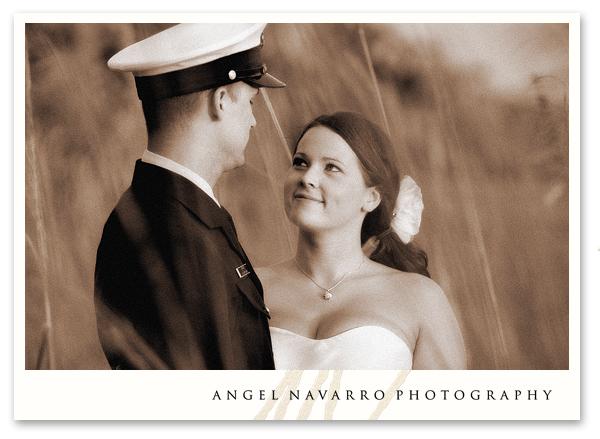 Soldier beach wedding