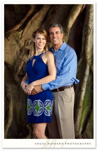 Banyan trees and their engagement picture.