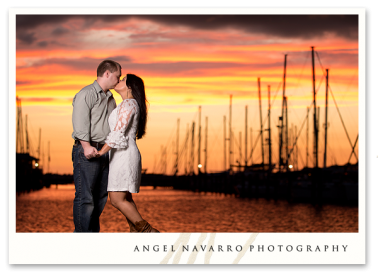 Sunset Engagement Pictures for Bradenton and Sarasota