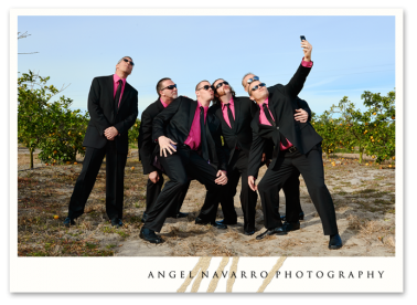 Groomsmen having a blast!