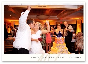 Exciting Cutting of the Wedding Cake