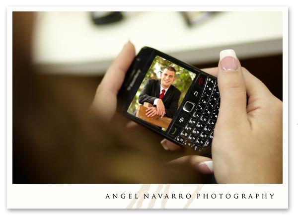 Photo of groom to his bride via text
