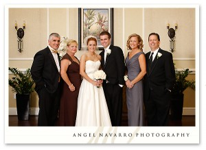 Wedding portrait with the family.
