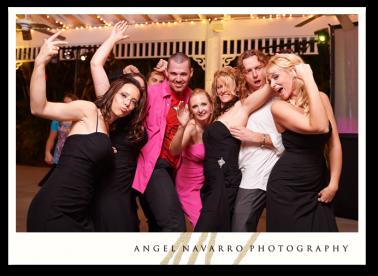 Hip wedding party.