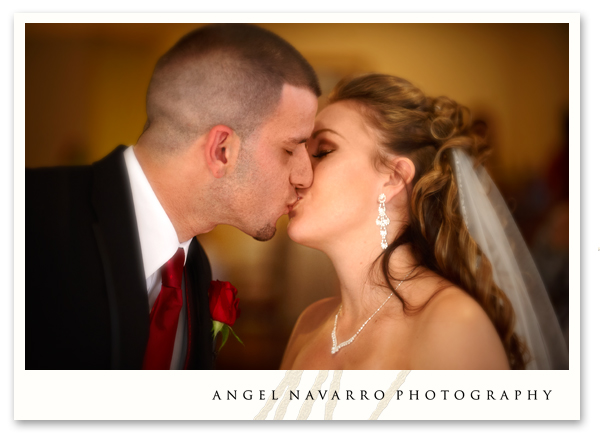 The reception kiss.