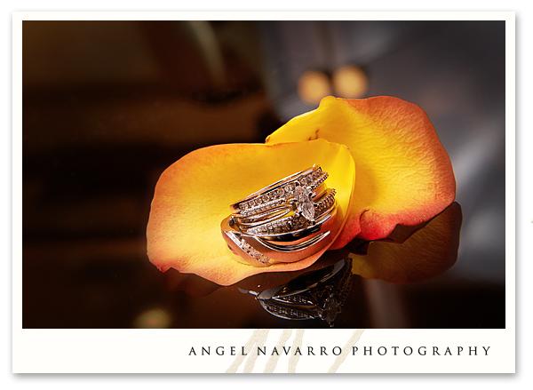 Creative Wedding Photo of Ceremonial Rings
