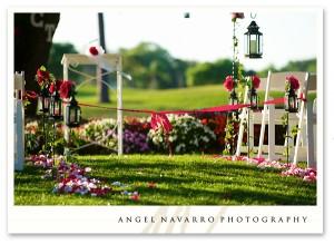 A colorful wedding altar